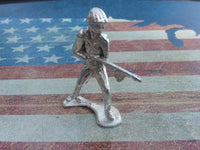 Classic Army Man Flamethrower Silver Toy Soldier Hand Poured Sterling Silver .925