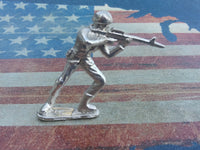 Classic Army Man M16 Silver Toy Soldier 1 oz Hand Poured Sterling Silver .925