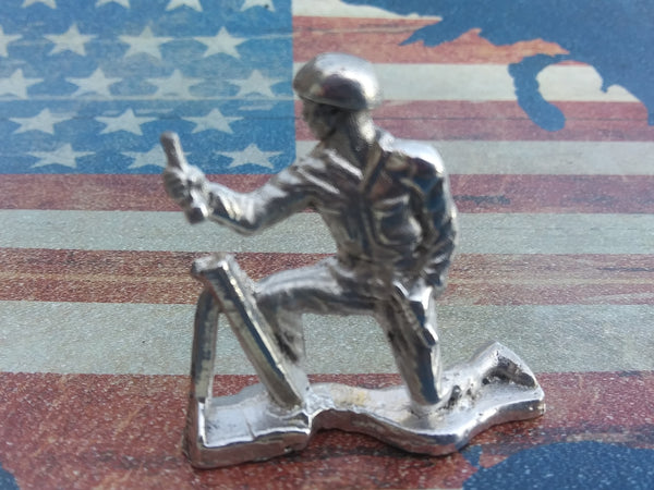 Classic Army Man Mortar Silver Toy Soldier 1 oz Sterling Silver .925