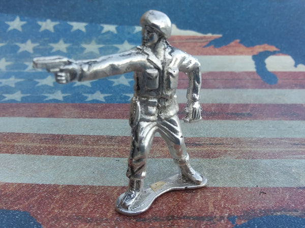 Classic Army Man Sarge Silver Toy Soldier 1 oz Sterling Silver .925