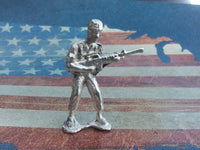 Classic Army Man Gunner Silver Toy Soldier 1 oz Sterling Silver .925