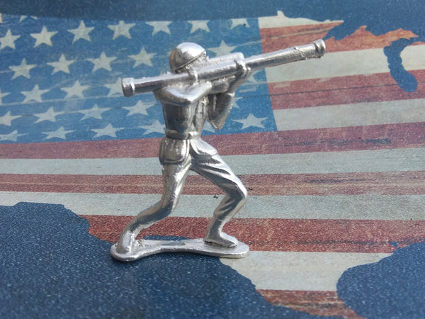 Classic Army Man Stovepipe Silver Toy Soldier 1 oz Sterling Silver .925