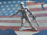Classic Army Man Grenade Thrower Silver Toy Soldier 1 oz Hand Poured Sterling Silver .925