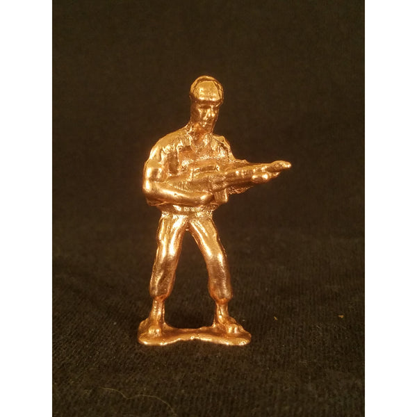 Classic Army Man Gunner Copper Toy Soldier Front