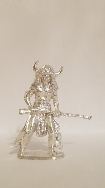 Buffalo Horned Indian Hand Poured Bullion .999 fine silver