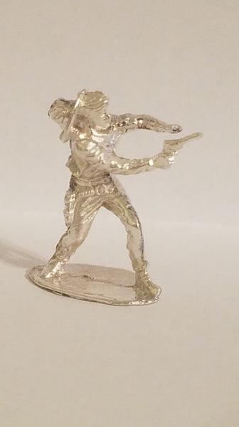Quick Draw Cowboy Hand Cast Bullion Sterling Silver .925