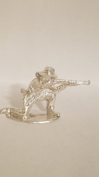 Kneeling Cowboy Hand Cast Bullion Sterling Silver .925