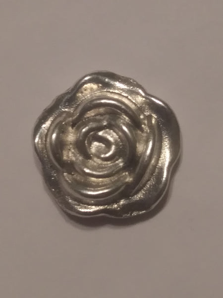 1/2 Oz 999 Silver Hand Poured Rose for Valentine's Day