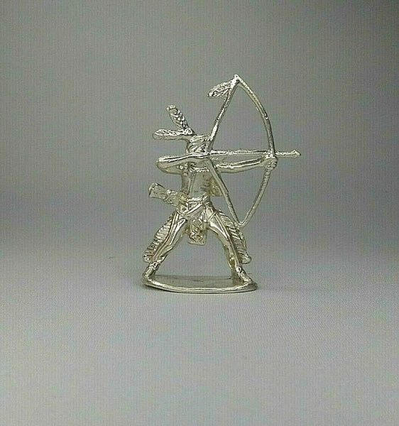 Indian With Bow & Arrow Hand Poured Bullion 999 Fine Silver