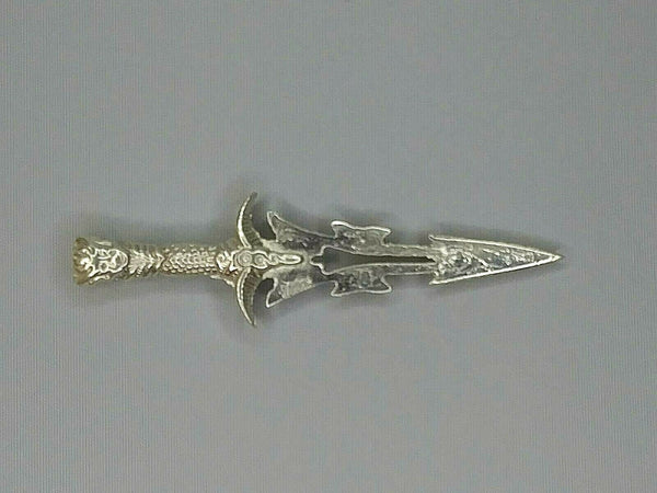 Knife Hand poured .999 fine Silver Bullion 3 1/2 long weight 22g 1776 Mint