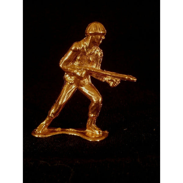 999 Copper Hand Poured Bullion Army Man Flamethrower Copper Soldier By 1776 Mint