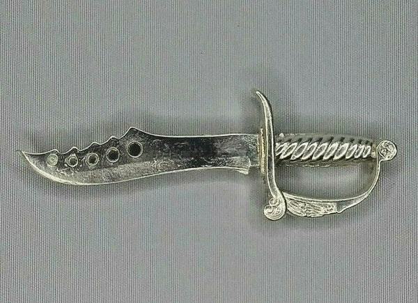 Knife Hand poured .999 fine Silver Bullion 3 3/4 long weight 30g  #4