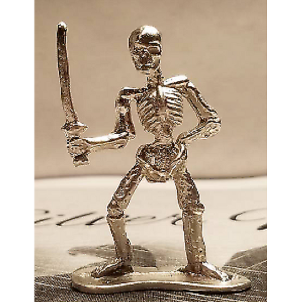 Skeleton pirate hand cast in 999 pure silver 19 to 21 grams each-1776mint