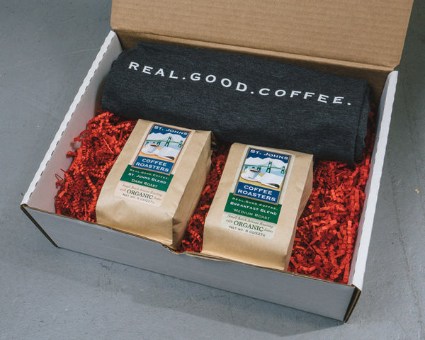 Coffee Gift Set with SJCR T-shirt