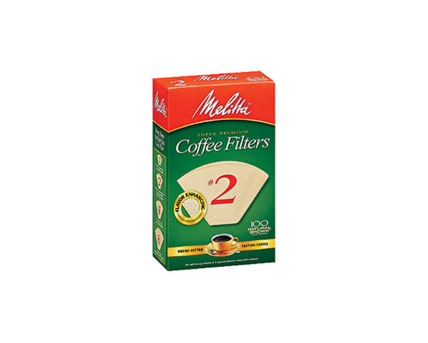 Melitta #2 Cone Filter Paper Natural Brown - 100