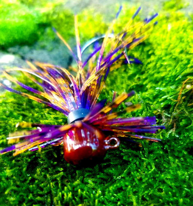 Peanut Butter & Jelly Finesse Jig 1/4 oz. Standard 90 Hook Size 3/0