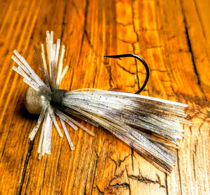 Blue Shad Skirted Finesse Jig 1/4 oz. Standard 90 Hook Size 3/0