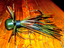 Load image into Gallery viewer, Natural Craw Skirted Finesse Jig 1/4 oz. Standard 90 Hook Size 3/0