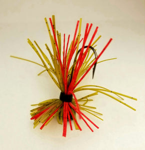 Wounded Watermelon Finesse Jig 1/4 oz. Standard 90 Hook Size 3/0