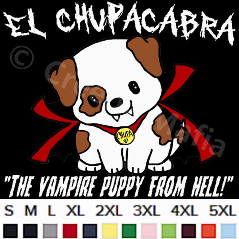 Vampire Puppy Tee | White Lettering