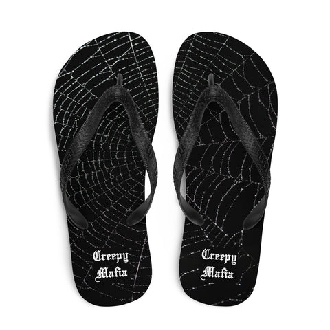 Black Widow Web | Flip Flops - Unisex