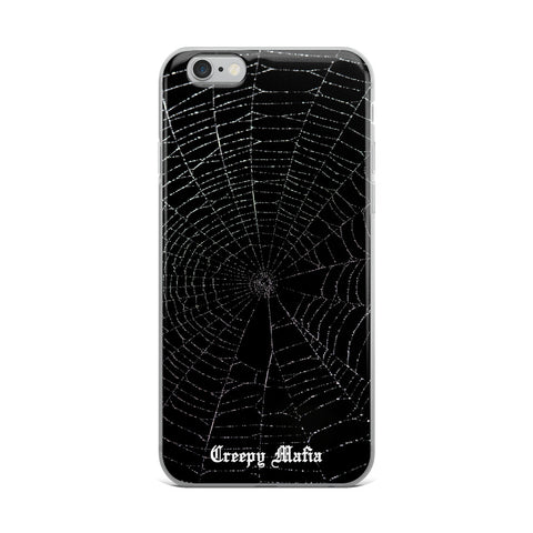 Black Widow Web | iPhone Cases - White Logo