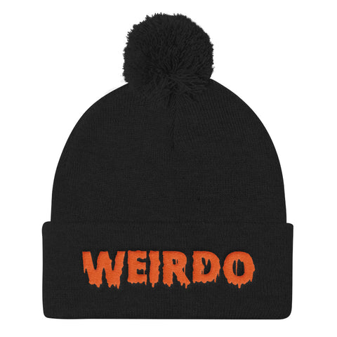 Weirdo Pom-Pom Beanie | Orange