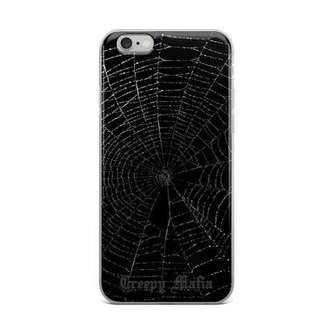 Black Widow Web | iPhone Cases - Grey Logo