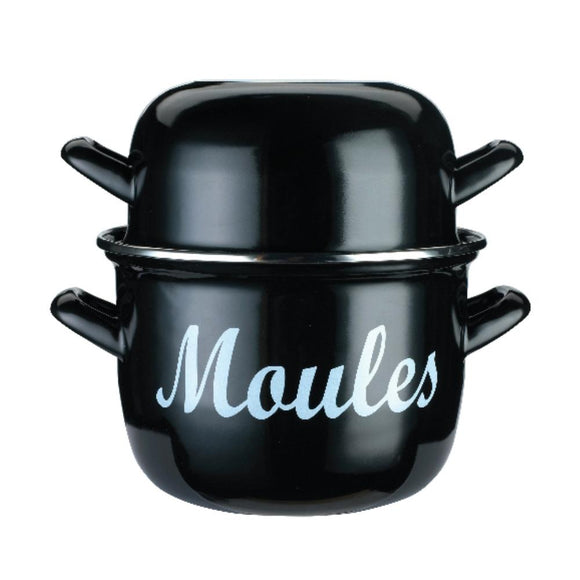 World of Flavours 18cm Enamelled Steel Mussel Pot