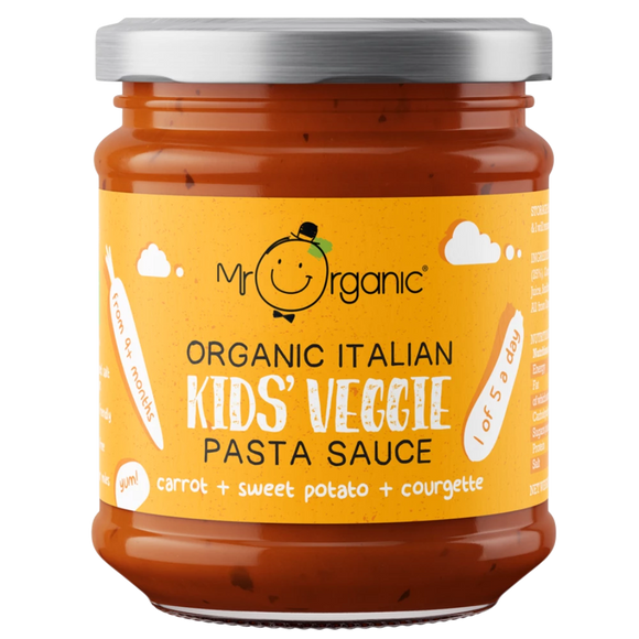 Mr Organic Carrot Sweet Potato & Courgette Pasta Sauce (200g)