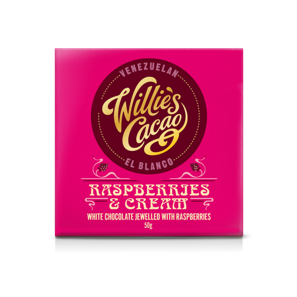 Willie's Cacao Raspberry & Cream Venezuelan Chocolate (50g)