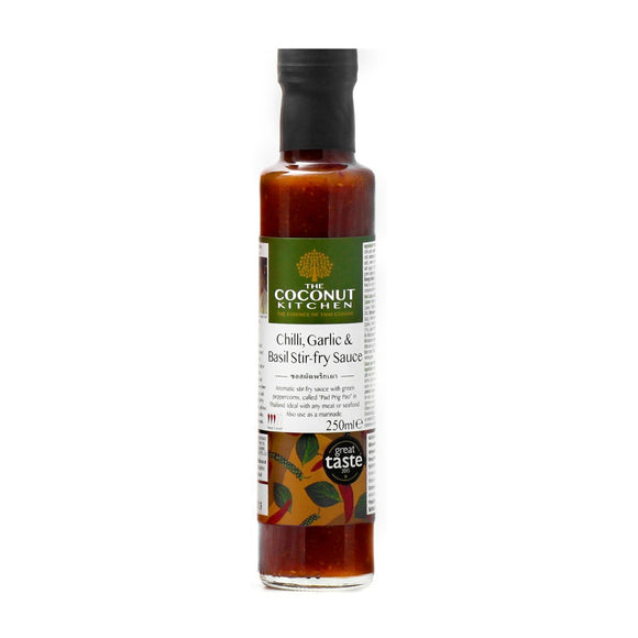 Coconut Kitchen Chilli Garlic & Basil Stir-Fry Sauce (255ml)