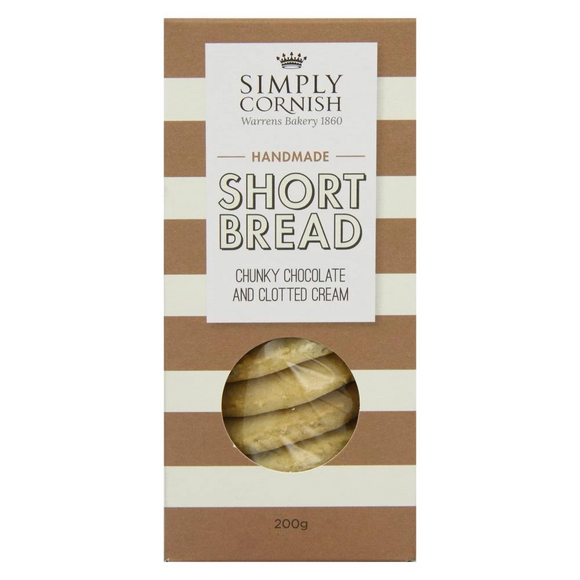 Simply Cornish Chunky Chocolate & Cream Shortbread (200g)