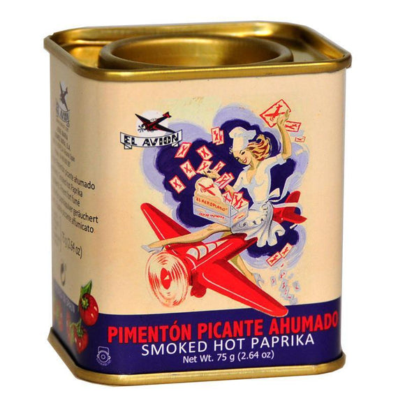 El Avion Vintage Smoked Hot Paprika in Retro Tin (75g)