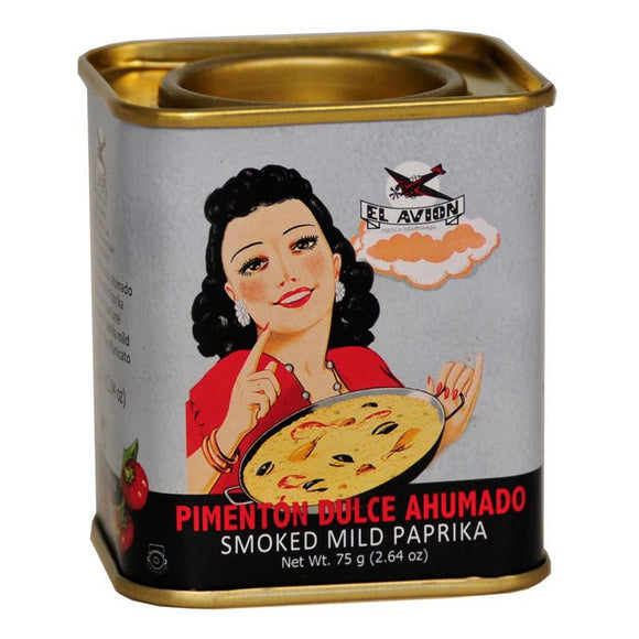 El Avion Vintage Smoked Mild Paprika in Retro Tin (75g)