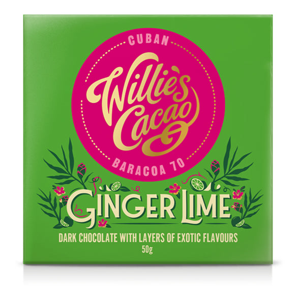 Willie's Cacao Ginger Lime Cuban Chocolate (50g)