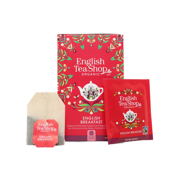 English Tea Shop Organic English Breakfast (20 Tea Bags)