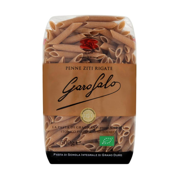Garofalo Organic Whole Wheat Penne Ziti Rigate (500g)