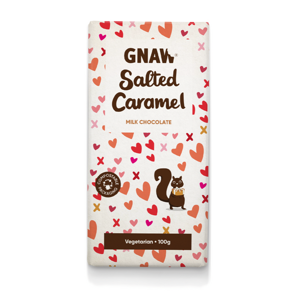 Gnaw Milk Chocolate Salted Caramel Bar (100g)
