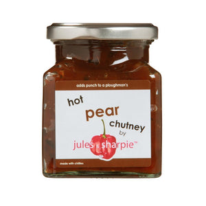 Jules & Sharpie Hot Pear Chutney (285g)
