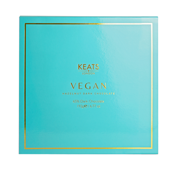 Keats 16 Piece Vegan Hazelnut Dark Chocolates (128g)