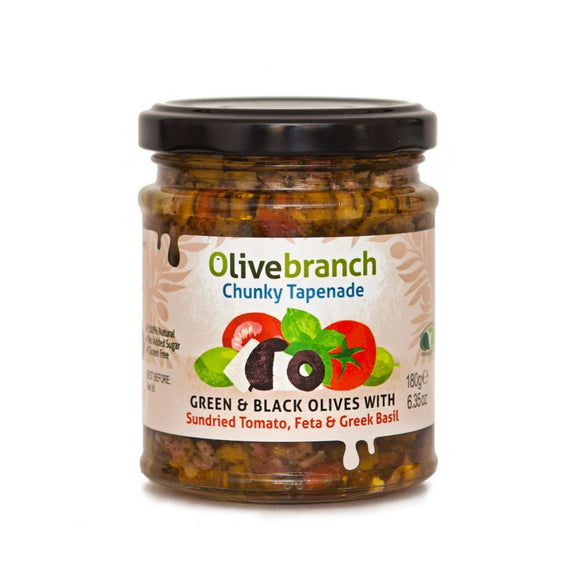 Olive Branch Sundried Tomato Feta & Greek Basil Tapenade (180g)