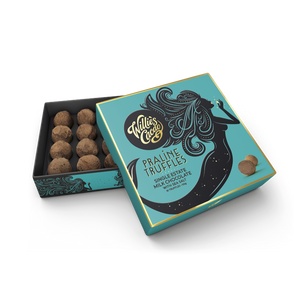 Willies Cacao Milk Chocolate Praline Truffles with Sea Salt (110g)