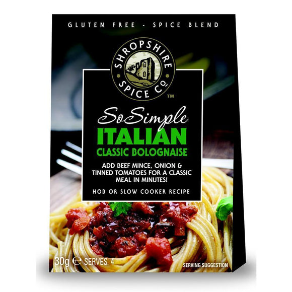 Shropshire Spice So Simple Italian Classic Bolognaise Spice Blend (30g)