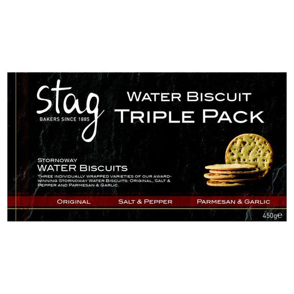 Stag Water Biscuit Triple Pack (450g)