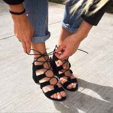 Load image into Gallery viewer, LISA - Lace-Up Summer Sandal