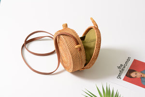 Rakel - Natural handmade rattan bag