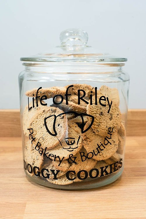 cookie jar grain free dog biscuit carob chip