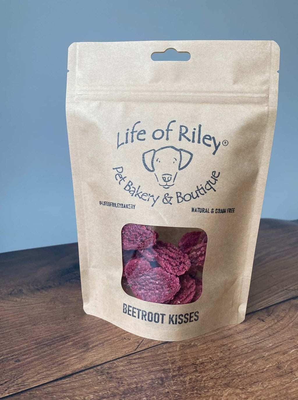 beetroot heart kisses dog treats gluten free natural