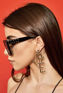 Love Dangle Earrings - Shades of Beautii Collection